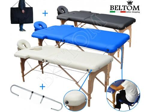 Liege-massage 2-zonen - + - Rollenhalter