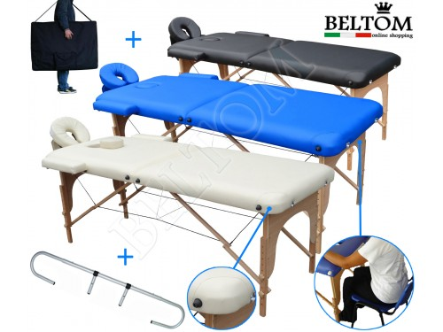 Table de Massage 2 zones + Porte Rouleau