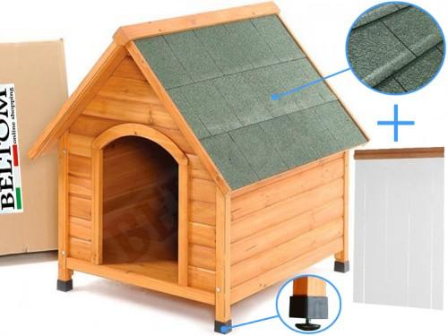 Chenil / Niche pour les chiens en bois - small