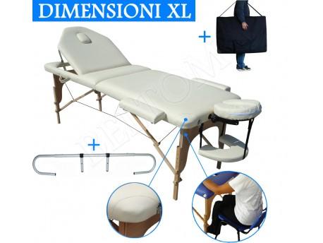 Lettino massaggio nuovo modello Panna + Portarotolo
