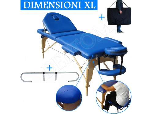 Lettino massaggio nuovo modello Blu + Portarotolo