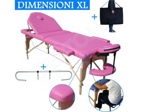 Lettino massaggio nuovo modello Rosa + Portarotolo