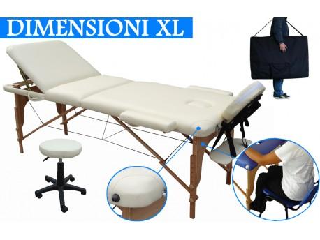 Lettino massaggio 3 zone + Sgabello