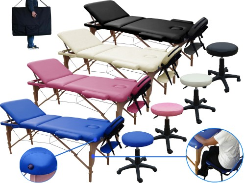 Massage table 3 section + Stool