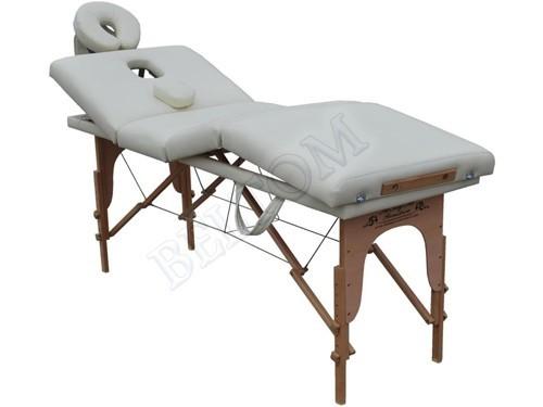 Lettino Massaggio Gran Lusso 4 zone PANNA