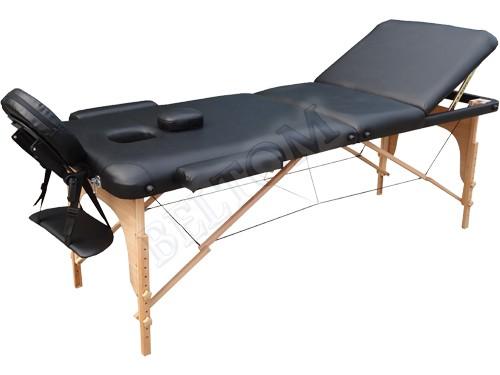 Lettino massaggio 3 Zone Classico NERO