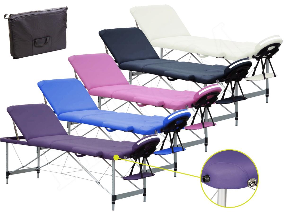 Lettino Da Massaggio Portatile Leggero.Lettino Per Massaggi 3 Zone Alluminio