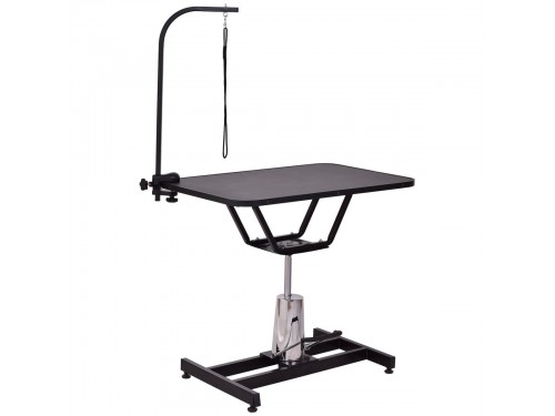 Hydraulic foot pedal grooming table