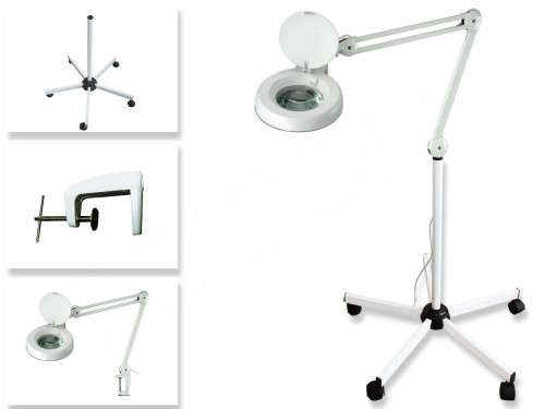 Floor Magnifying Lamp 5 Diopter + Clamp