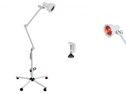 Infrared lamp with 5-wheel stand