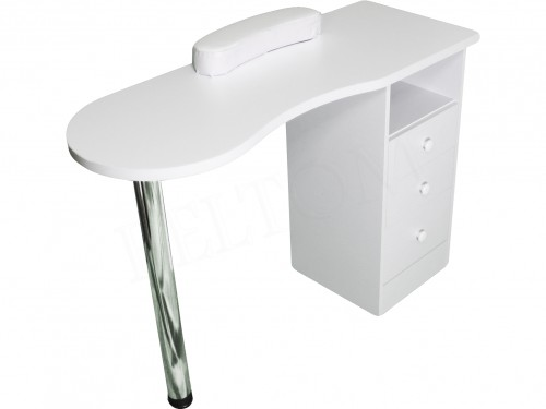Manicure table with drawers