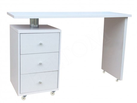 Mobile manicure table with wheels