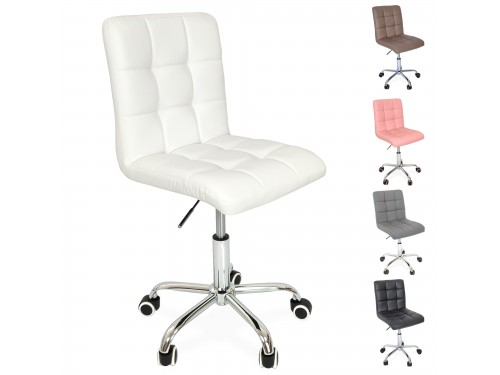 Swivel desk chair with casters